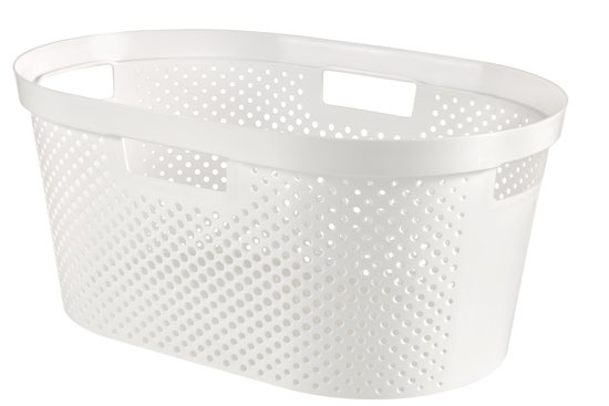 Curver Infinity Dots Wasmand - 39 l - Wit