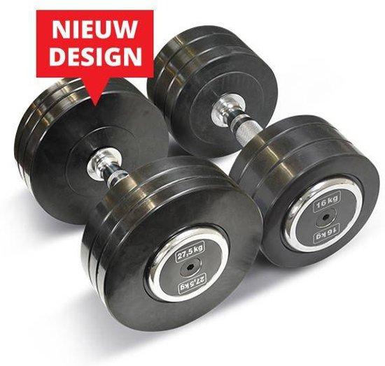 Bodytrading Rubber Dumbbell Pro Style PRORD - Verkocht per paar - 35 KG