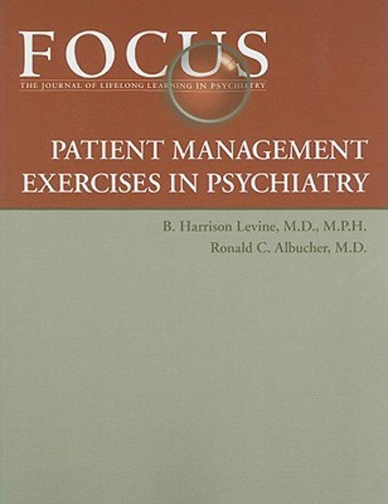 FOCUS Patient Management Exercises in Psychiatry
