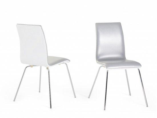 Witte leren stoel perfect witte leren bank stoel banken for Witte leren stoelen