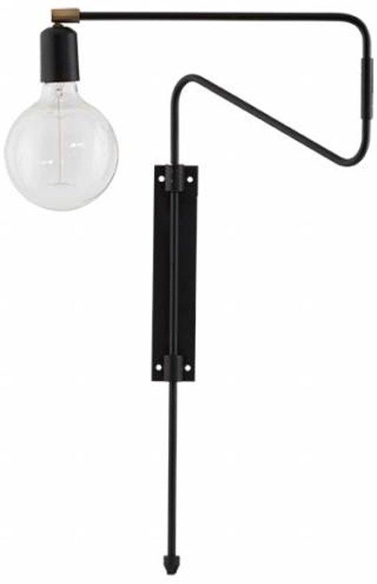 House Doctor Wandlamp Swing zwart 35 cm