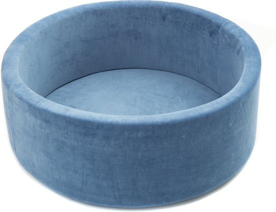FUJL - Ballenbak - Speelbak - Donker blauw - ⌀ 90 cm - 200 ballen - Kleuren - blauw - Parel  -Wit - Transparant