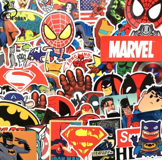 Bolcom 50 Marvel Superhelden Stickers Voor Laptop