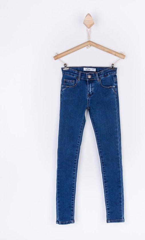 Tiffosi-meisjes-broek/spijkerbroek/jeans skinny Blake_K163-kleur: blauw-maat 104