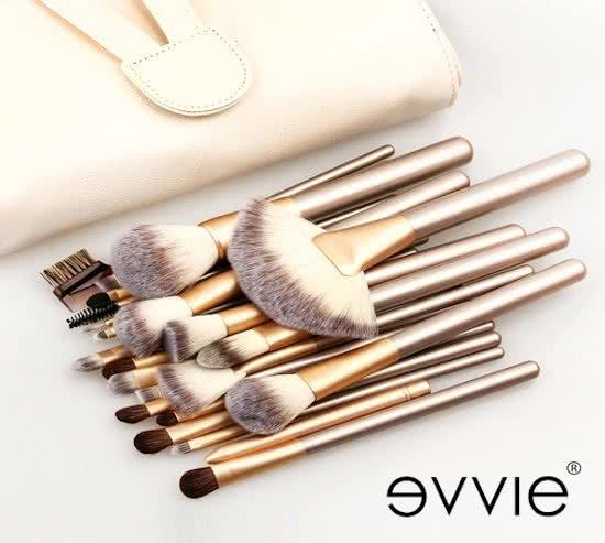 Professionele Beige-Goud - 24 delig - Make-up Kwastenset