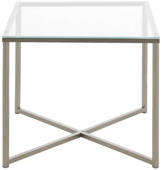 Bijzettafel Vierkant Glas.Bol Com Fyn Cape Bijzettafel Vierkant 50 Cm Glas