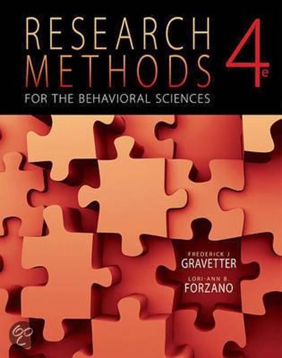 Boek cover Research Methods for the Behavioral Sciences van Frederick J Gravetter (Hardcover)