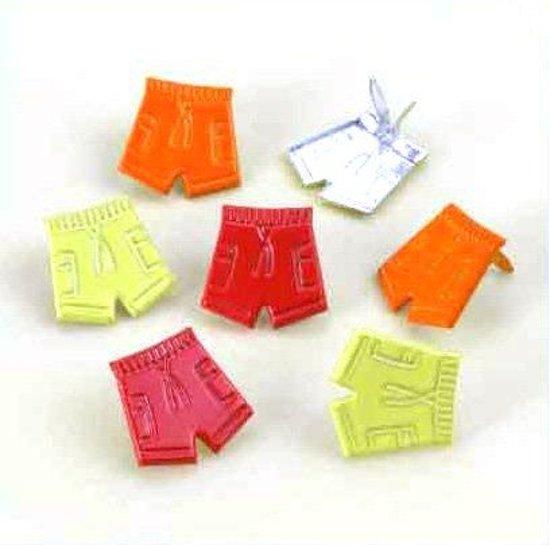 668e1380dae bol.com | Korte Broek Splitpennen - Rood, Groen, Oranje - 18 stuks ...