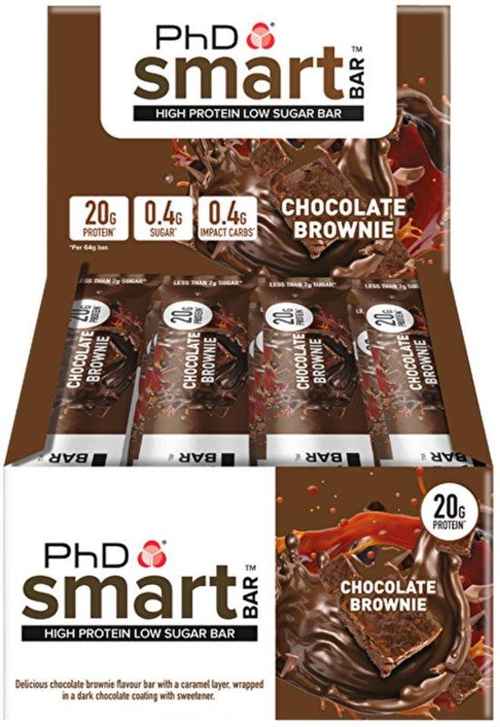 PhD - Smart Bar - Dark Chocolate Brownie (12x64g)