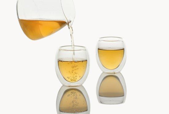 Set van 8 Dubbelwandige glazen - koffie -en theeglazen - 250 ml 8 stuks