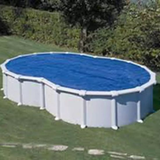 Gre Zwembad Zwembad afdekzeil zomer achtvormig 6,4 x 3,9 m 401069