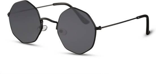 e1f2d913482fed Cheapass Zonnebrillen - Festival zonnebril - Goedkope zonnebril - Zwart -  Trendy