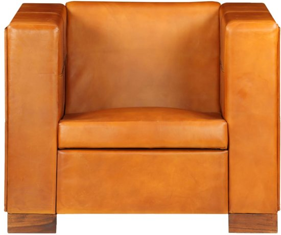 Relax Lounge Stoel.Luxe Fauteuil Lichtbruin Echt Leer Loungestoel Lounge Stoel Relax Stoel Chill Stoel Lounge Bankje Lounge Fauteil Cocktail Stoel