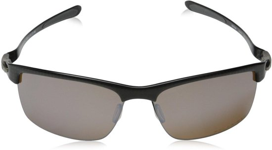 9413677745 Oakley Carbon Blade - Zonnebril - Polarized Polished Carbon Ruby Iridium -  Zwart Rood