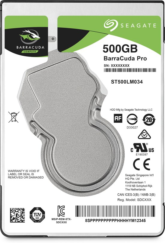 Seagate BarraCuda Pro - Interne harde schijf - 500 GB