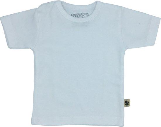 Basic Babykleding.Bol Com Wooden Buttons Basic Baby T Shirt Wit Maat 74 80