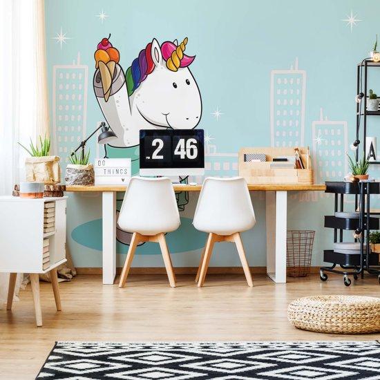 Fotobehang Unicorn Blue | VEXXXXL - 416cm x 290cm | 130gr/m2 Vlies