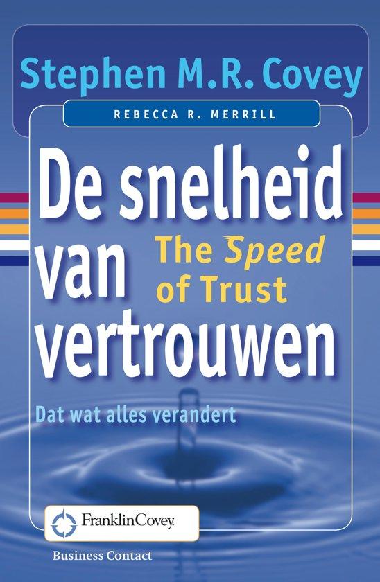 Boek cover De snelheid van vertrouwen van Stephen M.R. Covey (Onbekend)