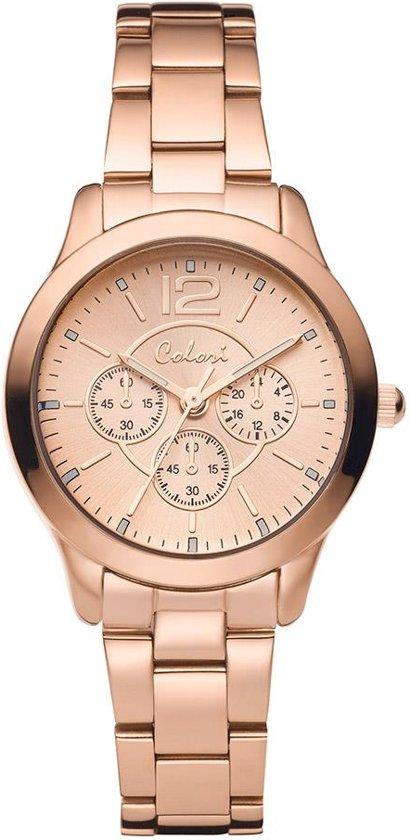 Colori 5-COL384 - Horloge - Staal - Rosékleurig - 30 mm voor €19,99
