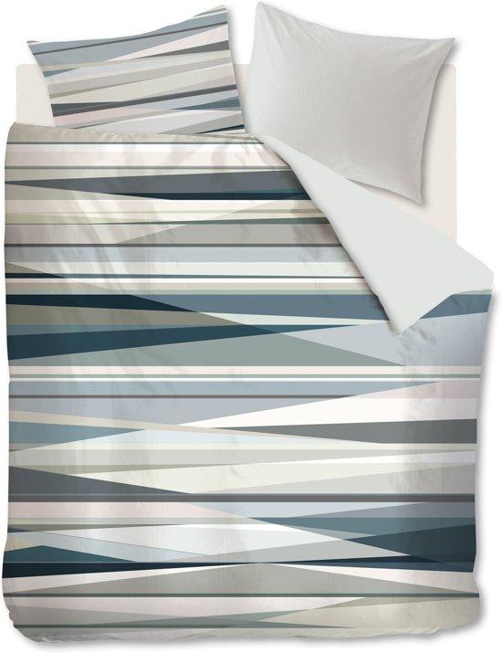Kardol & Verstraten Rayons - Dekbedovertrek - Lits-jumeaux - 240x200/220 cm - Blauw Grijs