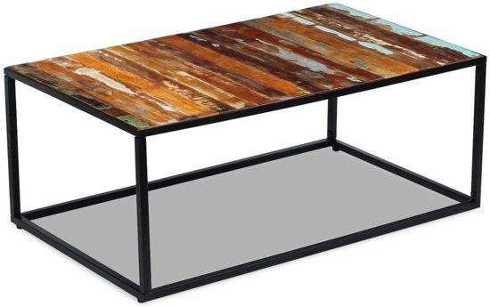 vidaXL Salontafel massief gerecycled hout 100x60x40 cm