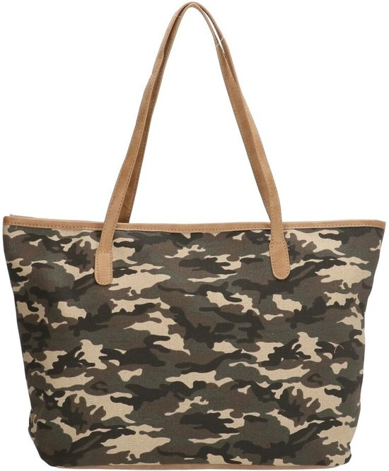 494301bab3f bol.com | Ruime strandtas met camouflageprint– Beagles