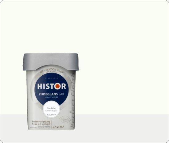 Histor Perfect Finish Lak Zijdeglans 0,75 liter - Zonlicht (Ral 9010)