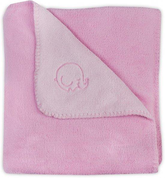Jollein Comfy Fleece - Wiegdeken 75x100 cm - Roze