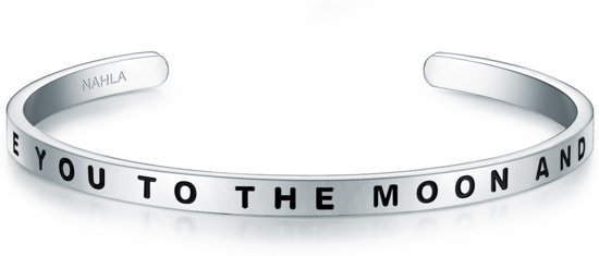 Nahla Jewels Bangle Edelstahl I LOVE YOU TO THE MOON AND BACK