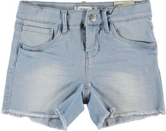 Name it short meisjes - blauw - NKFsalli - maat 122