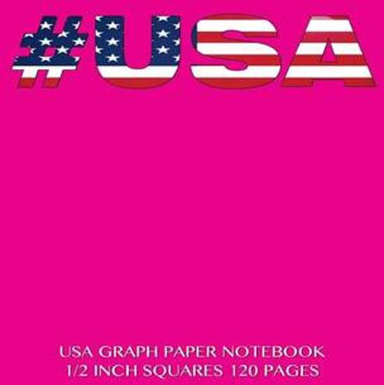 USA Graph Paper Notebook 1/2 Inch Squares 120 Pages