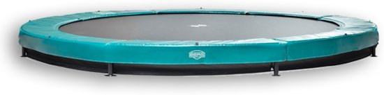BERG Elite+ InGround Trampoline - 430 cm - Inclusief Veiligheidsnet T-series - Groen