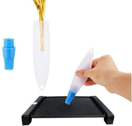 Siliconen Bakkwast inclusief reservoir - Bak Brush voor Vloeistoffen zoals Olie - Bak Borstel Tool