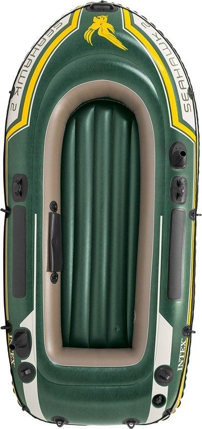 Intex Opblaasboot Seahawk 2 SET Tweepersoons Groen 236 X 114 X 41 Cm