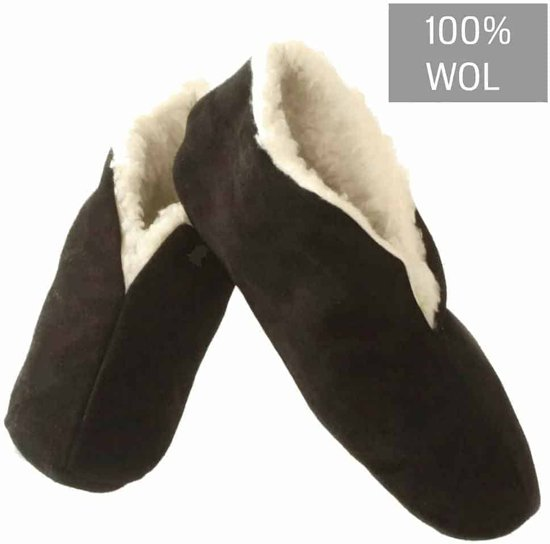 spaanse sloffen zwart 100% wollen voering 47