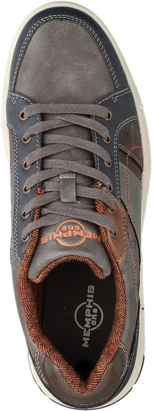 Maat Sneaker Vetersluiting Memphis Donkergrijze 43 One Heren SBXqnHawPx