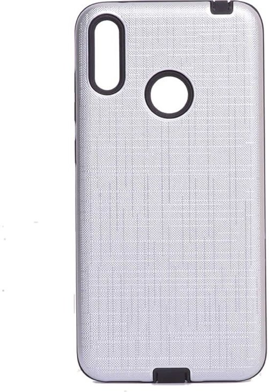 Teleplus Samsung Galaxy M20 Youyou Silicone Case Silver hoesje