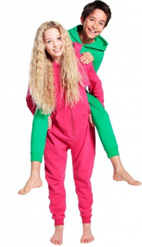 Warme onesie jumpsuit voor kinderen 5-6 jaar Roze