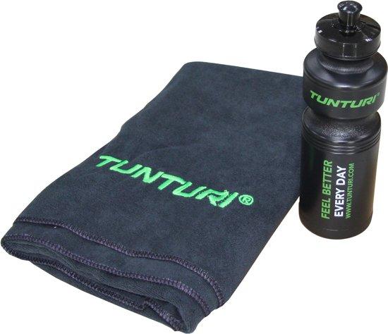 Tunturi Original fitness machine handdoek en bidon set