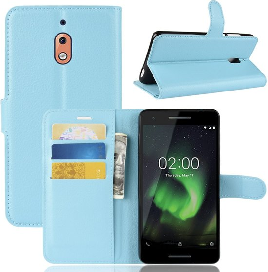 Book Case Nokia 2.1 Hoesje - Lichtblauw