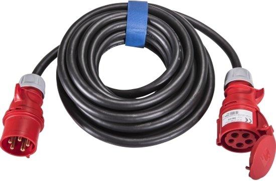 SIROX® CEE-verlengkabel 5x4,0mm², 32 A, 5 polig, 400V, 6h, zwart - 10 meter