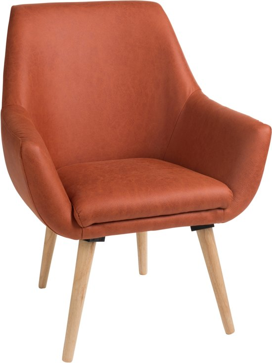 Houten Design Fauteuil.Bol Com Duverger Scandinavian Design Fauteuil Simili Zit