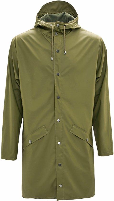 Rains Long Jacket 1202 Jas - Groen