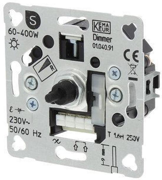 Smartwares S2 Inbouw Dimmer - Draai-Uit - 400W - Element