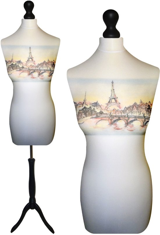 Paris paspop met zwarte sparkling driepoot 40/42