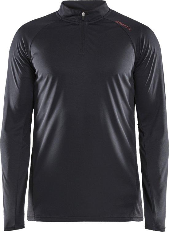 Craft Eaze Ls Half Zip Tee Heren Sportshirt - Zwart - M