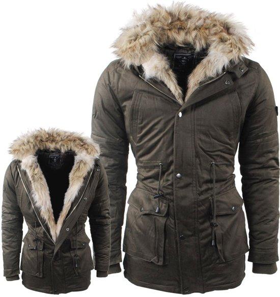 Heren Winterjas Bont.Bol Com Hite Couture Heren Winterjas Met Faux Fur Bont Langs De