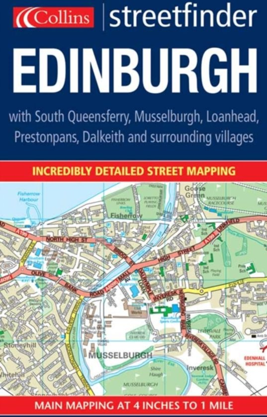 Edinburgh Colour Streetfinder Map