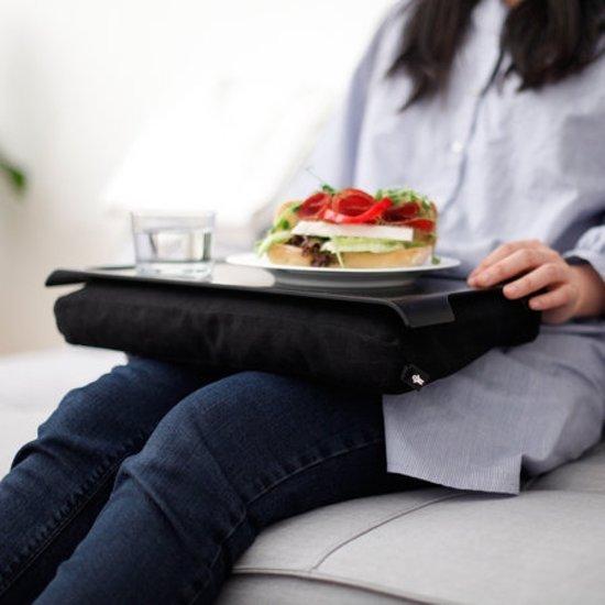 Bosign mini Laptray/Schoottafel zwart antislip bovenblad - 43 x 23 x 6 cm