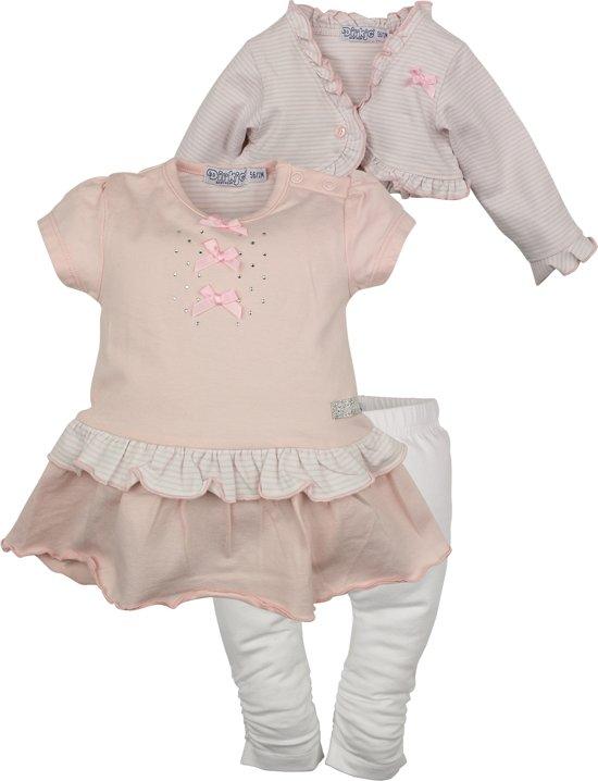 Babykleding Roze.Bol Com Dirkje Babykleding 3 Delig Setje Sparkle Roze Maat 62